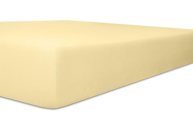 """Kneer Spannbettlaken Fein-Jersey \""""Qualität 50\"""" Farbe 02 leinen Stretch-Betttuch 90-100 cm x 190-200 cm"""