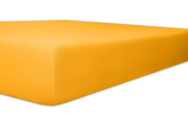 """Kneer Spannbettlaken Fein-Jersey \""""Qualität 50\"""" Farbe 03 honig Stretch-Betttuch 120-130 cm x 200 cm"""