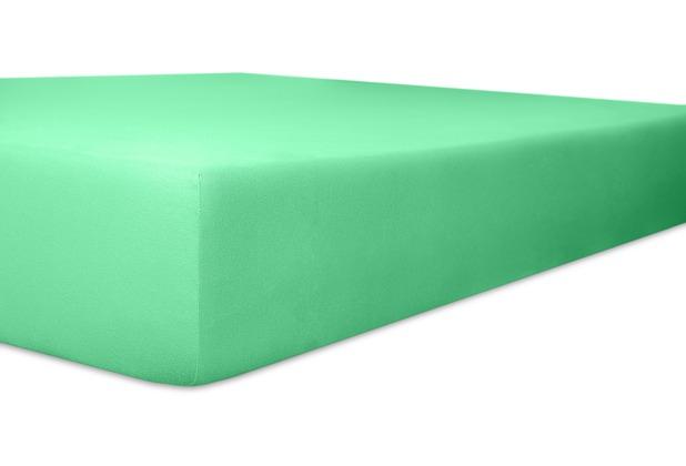 """Kneer Spannbettlaken Fein-Jersey \""""Qualität 50\"""" Farbe 35 lagune Stretch-Betttuch 120-130 cm x 200 cm"""