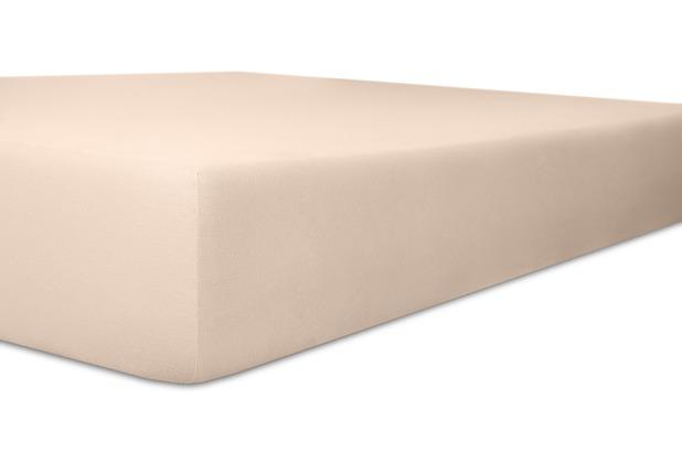 """Kneer Spannbettlaken Fein-Jersey \""""Qualität 50\"""" Farbe 41 zartrose Stretch-Betttuch 120-130 cm x 200 cm"""