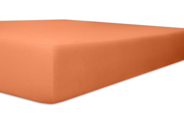 """Kneer Spannbettlaken Fein-Jersey \""""Qualität 50\"""" Farbe 70 karamel Stretch-Betttuch 120-130 cm x 200 cm"""