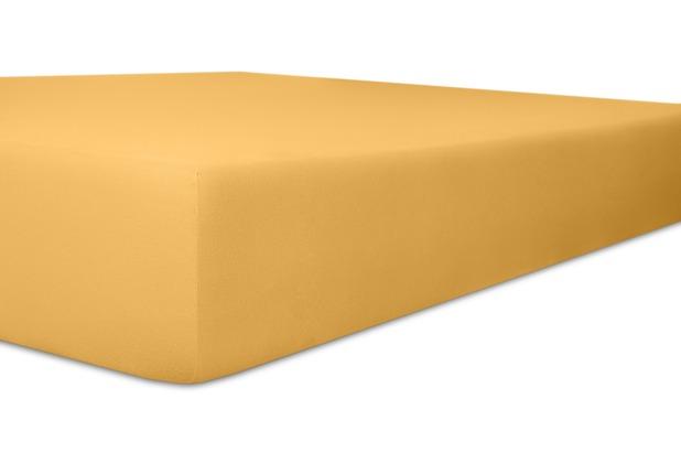 """Kneer Spannbettlaken Fein-Jersey \""""Qualität 50\"""" Farbe 74 sand Stretch-Betttuch 90-100 cm x 210-220 cm"""