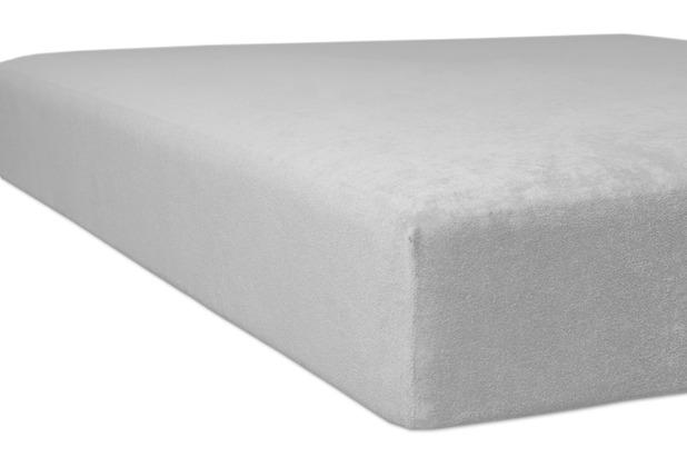 "Kneer Spannbettlaken Flausch-Frottee \""Qualität 10\"" Farbe 09 platin Bettlaken 150 x 250 cm"