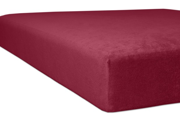 "Kneer Spannbettlaken Flausch-Frottee \""Qualität 10\"" Farbe 48 karmin Bettlaken 150 x 250 cm"