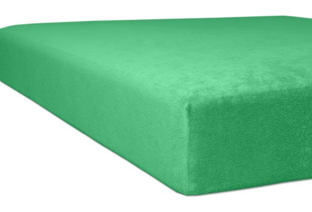 "Kneer Spannbettlaken Flausch-Frottee \""Qualität 10\"" Farbe 58 tundra Bettlaken 150 x 250 cm"