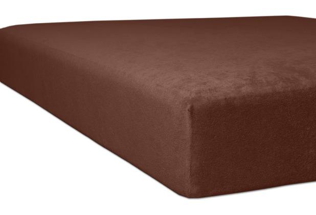 "Kneer Spannbettlaken Flausch-Frottee \""Qualität 10\"" Farbe 69 nougat Bettlaken 150 x 250 cm"