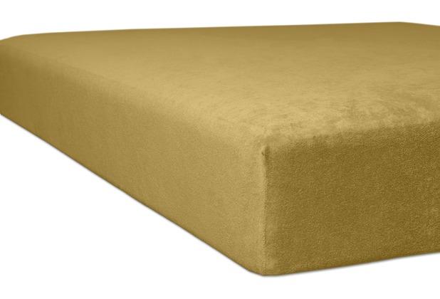 "Kneer Spannbettlaken Flausch-Frottee \""Qualität 10\"" Farbe 74 sand Bettlaken 150 x 250 cm"