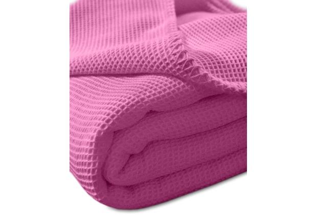 """Kneer Pique-Decke La Diva Maison \""""Qualität 91\"""" Farbe 20 pink Pique-Decke 150/210 cm"""