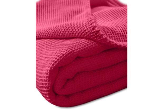 "Kneer Pique-Decke La Diva Maison \""Qualität 91\"" Farbe 42 rubin Pique-Decke 150/210 cm"