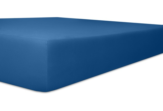 "Kneer Single-Jersey \""Qualität 60\"", Farbe 40 kobalt Kinder-Betttuch 60/120 - 70/140 cm"