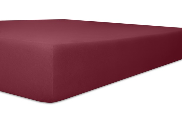 """Kneer Single-Jersey \""""Qualität 60\"""" Farbe 49 burgund Spannbetttuch 140/200 - 160/200 cm"""