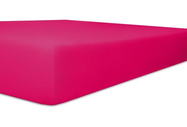 "Kneer Single-Jersey \""Qualität 60\"" Farbe 52 fuchsia Spannbetttuch 140/200 - 160/200 cm"