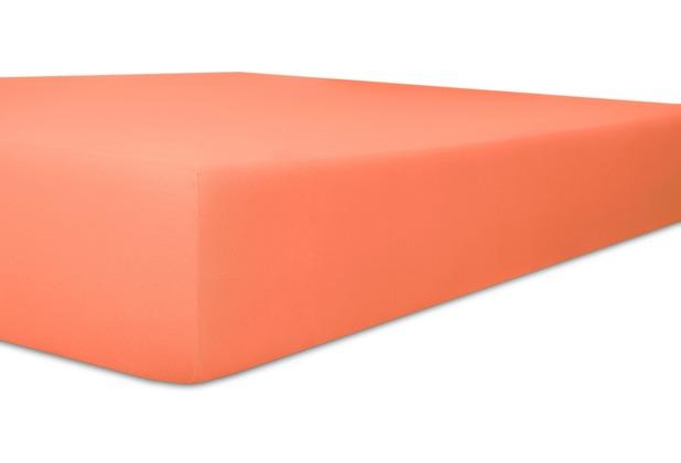 """Kneer Single-Jersey \""""Qualität 60\"""" Farbe 73 ziegel Spannbetttuch 140/200 - 160/200 cm"""