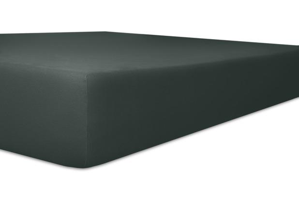 """Kneer Single-Jersey \""""Qualität 60\"""" Farbe 82 schwarz Spannbetttuch 140/200 - 160/200 cm"""