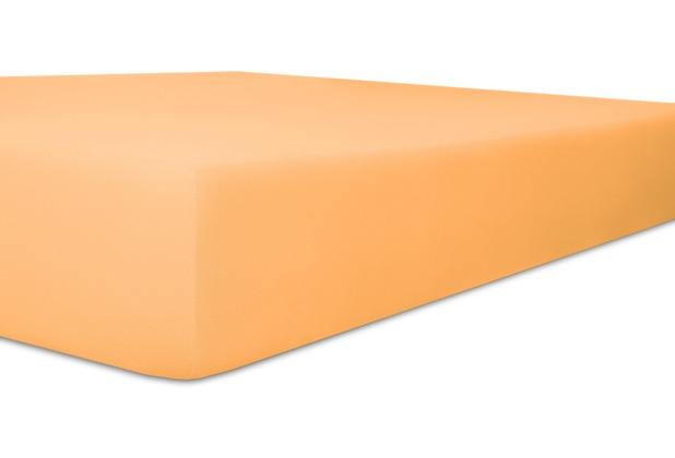 """Kneer Spannbetttuch Easy-Stretch \""""Qualität 25\"""" Farbe 08 pfirsich 120-130 cm x 200-220 cm"""