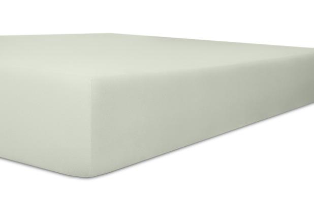 "Kneer Spannbetttuch Easy-Stretch \""Qualität 25\"" Farbe 11 hellgrau 120-130 cm x 200-220 cm"