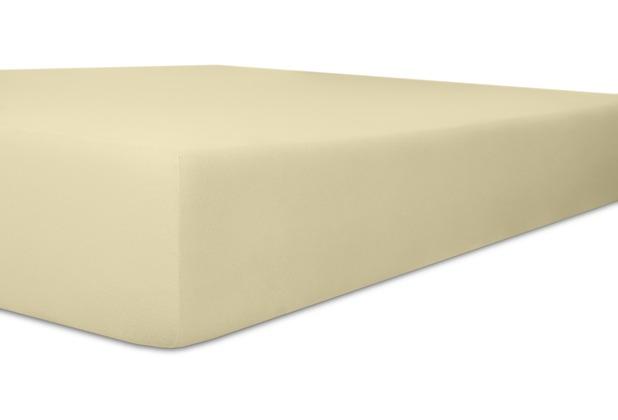 "Kneer Spannbetttuch Easy-Stretch \""Qualität 25\"" Farbe 26 ecru 120-130 cm x 200-220 cm"