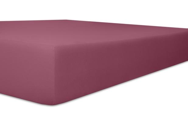 """Kneer Spannbetttuch Easy-Stretch \""""Qualität 25\"""" Farbe 27 brombeer 120-130 cm x 200-220 cm"""