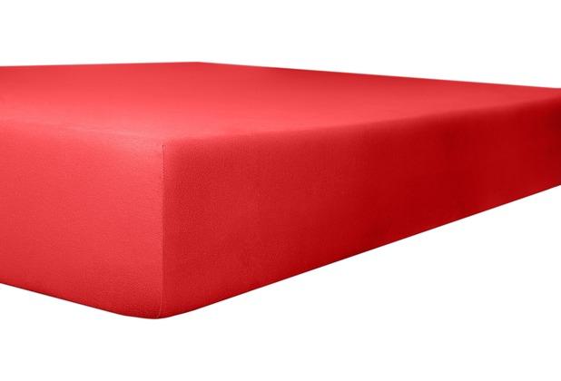 """Kneer Spannbetttuch Jersey \""""Qualität 20\"""" Farbe 42 rubin 120-130 cm x 200 cm"""
