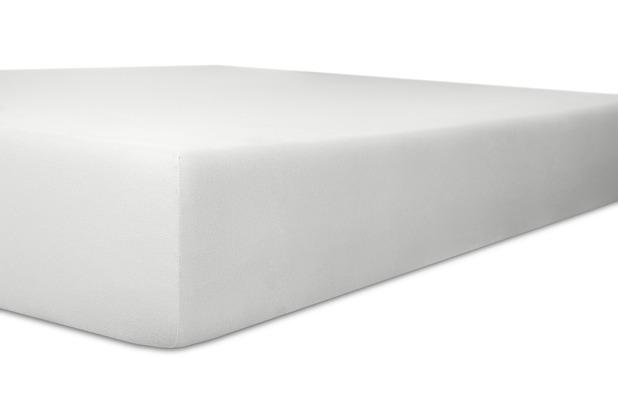 """Kneer Spannbetttuch Exclusive-Stretch \""""Qualität 93\"""", Farbe 01 weiss 120-130 cm x 200-220 cm"""