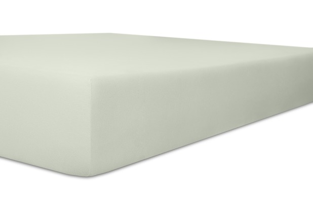 """Kneer Spannbetttuch Exclusive-Stretch \""""Qualität 93\"""" Farbe 11 hellgrau 120-130 cm x 200-220 cm"""