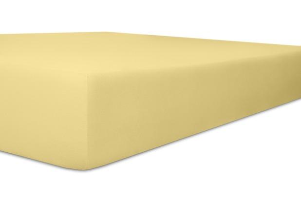 """Kneer Spannbetttuch Exclusive-Stretch \""""Qualität 93\"""" Farbe 12 creme 120-130 cm x 200-220 cm"""