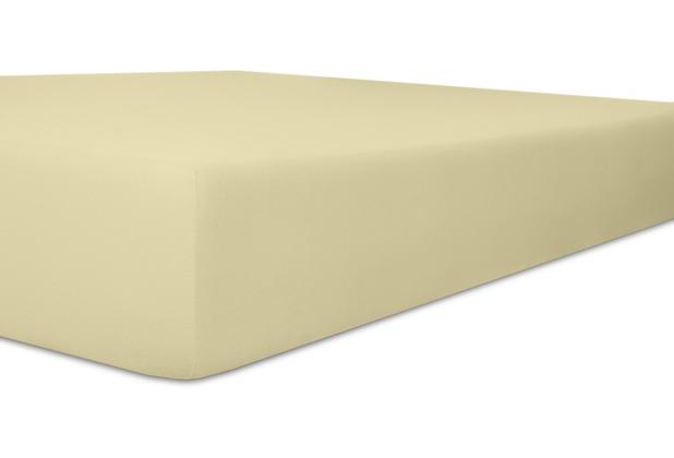"""Kneer Spannbetttuch Exclusive-Stretch \""""Qualität 93\"""" Farbe 15 natur 120-130 cm x 200-220 cm"""