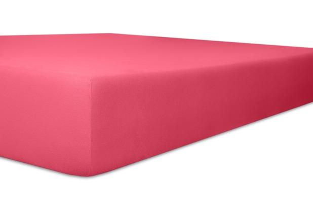 """Kneer Spannbetttuch Exclusive-Stretch \""""Qualität 93\"""" Farbe 20 pink 120-130 cm x 200-220 cm"""