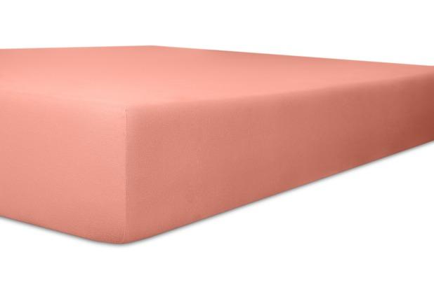 """Kneer Spannbetttuch Exclusive-Stretch \""""Qualität 93\"""" Farbe 45 altrosa 120-130 cm x 200-220 cm"""