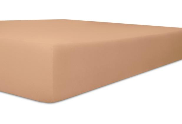 """Kneer Spannbetttuch Exclusive-Stretch \""""Qualität 93\"""" Farbe 71 marone 120-130 cm x 200-220 cm"""