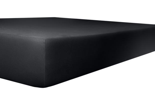 """Kneer Spannbetttuch Exclusive-Stretch \""""Qualität 93\"""" Farbe 80 onyx 120-130 cm x 200-220 cm"""