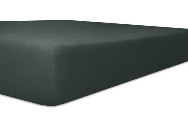 """Kneer Spannbetttuch Exclusive-Stretch \""""Qualität 93\"""", Farbe 82 schwarz 120-130 cm x 200-220 cm"""