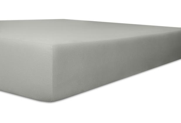 """Kneer Spannbetttuch Exclusive-Stretch \""""Qualität 93\"""", Farbe 84 schiefer 120-130 cm x 200-220 cm"""