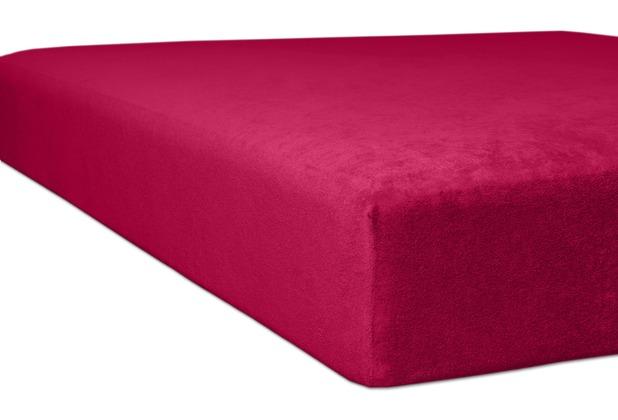 """Kneer Spannbetttuch Flausch-Biber \""""Qualität 80\"""" Farbe 49 burgund 140/200 - 160/200 cm"""