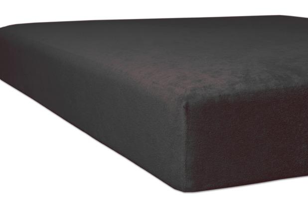"""Kneer Spannbetttuch Flausch-Biber \""""Qualität 80\"""" Farbe 84 schiefer 140/200 - 160/200 cm"""
