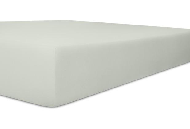 """Kneer Vario-Stretch \""""Qualität 22\"""" Farbe 09 platin Spannbetttuch 120-130 cm x 200-220 cm"""