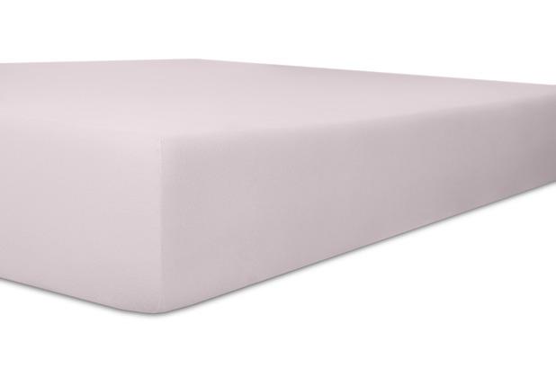 "Kneer Vario-Stretch \""Qualität 22\"" Farbe 30 lavendel Topperbezug 200/220/4-12cm 80cm Einschnitt"