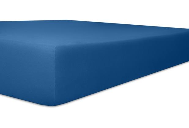 """Kneer Vario-Stretch \""""Qualität 22\"""", Farbe 40 kobalt Spannbetttuch 120-130 cm x 200-220 cm"""