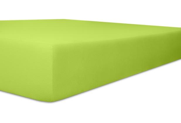 """Kneer Vario-Stretch \""""Qualität 22\"""" Farbe 54 limone Spannbetttuch 120-130 cm x 200-220 cm"""