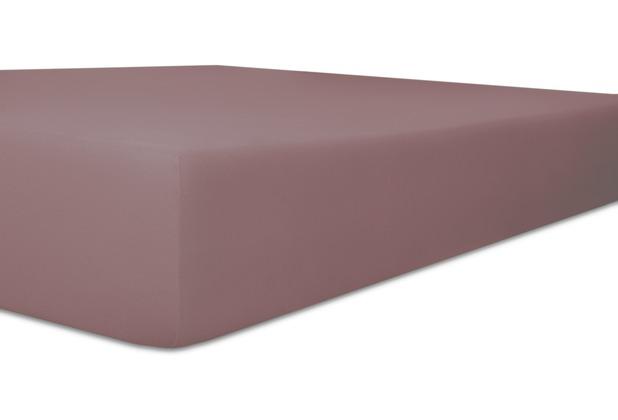 """Kneer Vario-Stretch \""""Qualität 22\"""" Farbe 62 flieder Spannbetttuch 120-130 cm x 200-220 cm"""