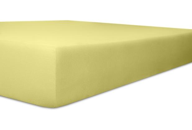 "Kneer Vario-Stretch \""Qualität 22\"" Farbe 64 birke Topperbezug 120 x 200 cm / 4-12 cm Höhe"