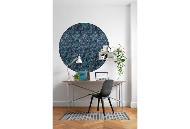 Komar Azul 125 x 125 cm Fototapete Dots