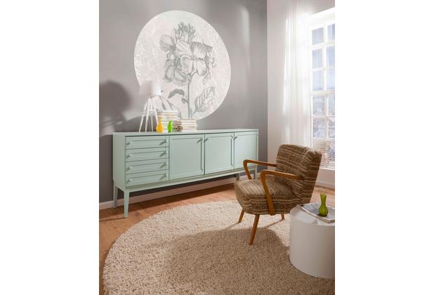 Komar Barock Beauty 125 x 125 cm Fototapete Dots