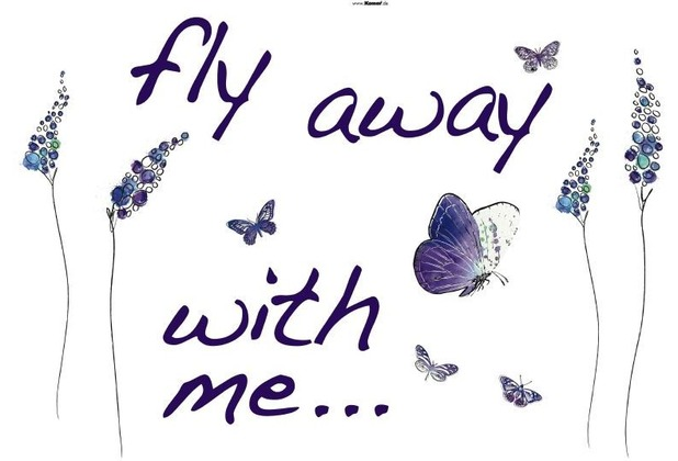 Komar Decosticker Butterflies 100 x 70 cm
