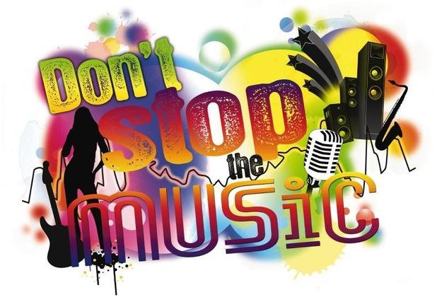 Komar Decosticker Don\'t stop the music 100 x 70 cm