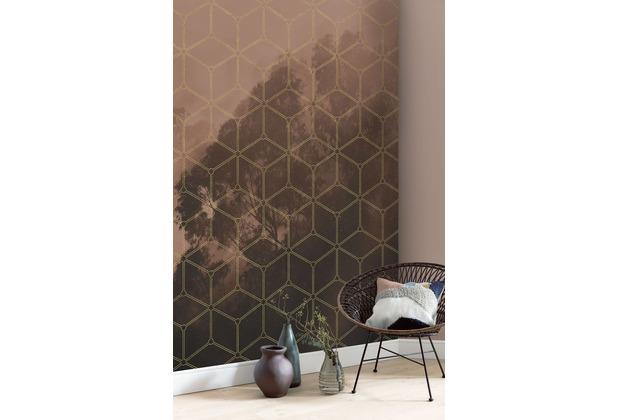 """Komar Digitaldruck Fototapete auf Vlies \""""Golden Grid\"""" 200 x 250 cm"""
