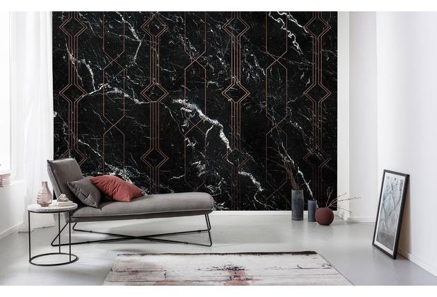 "Komar Digitaldruck Fototapete auf Vlies \""Marble Black\"" 400 x 250 cm"