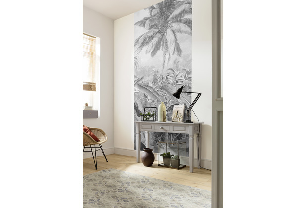 "Komar Digitaldruck Fototapete auf Vlies\""Amazonia Black and White Panel\"" 100 x 250 cm"
