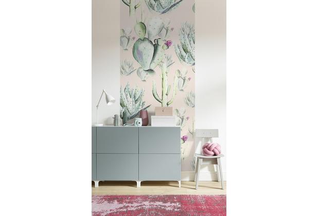 "Komar Digitaldruck Fototapete auf Vlies\""Cactus Rose Panel\"" 100 x 250 cm"