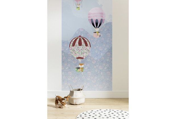 "Komar Digitaldruck Fototapete auf Vlies\""Happy Balloon Panel\"" 100 x 250 cm"